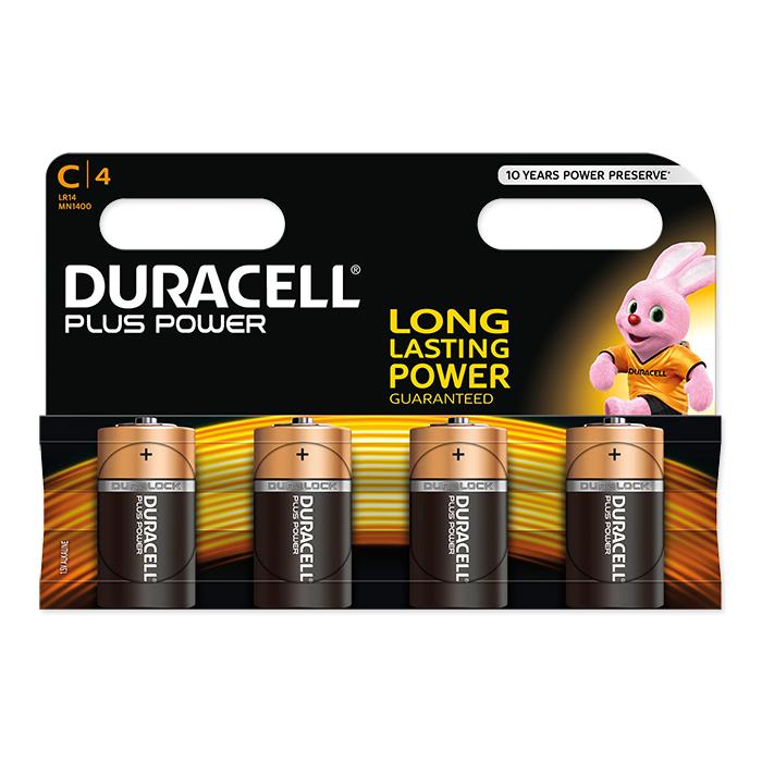 Duracell C Plus Power 1.5 Volt, 4 pieces