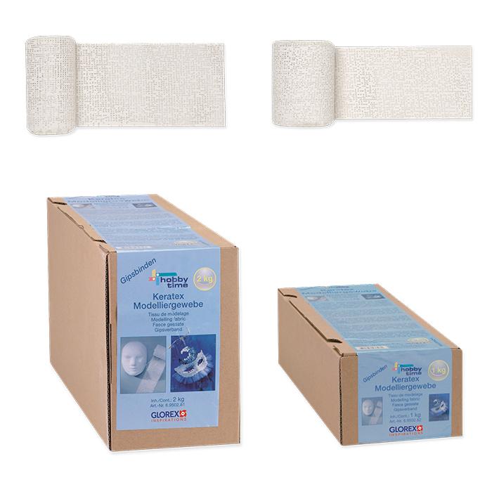 Keratex plaster bandages, modelling tissue