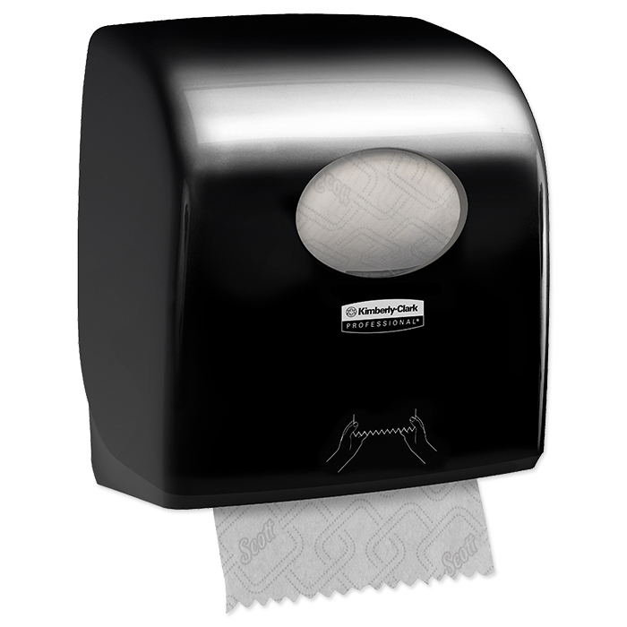 Aquarius roll hand towel dispenser black
