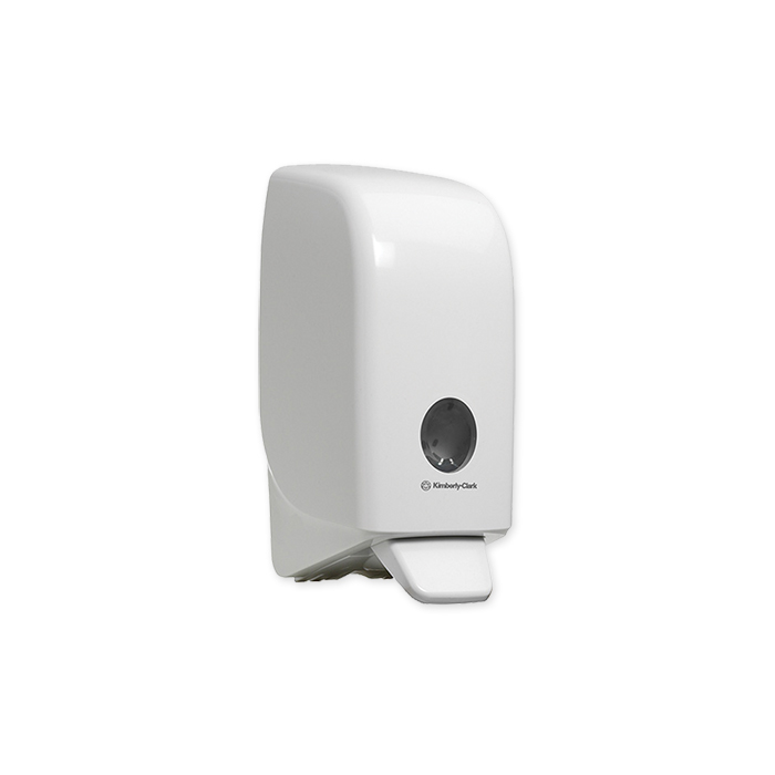 Aquarius dispenser for hand cleanser white