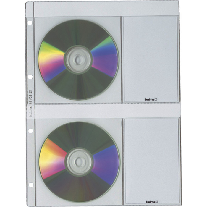 Kolma CD/DVD File pockets