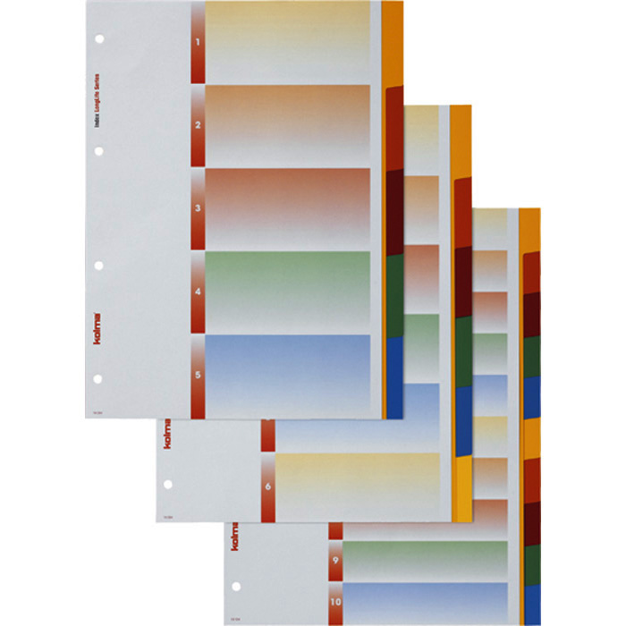 Kolma Plain tabs dividers LongLife