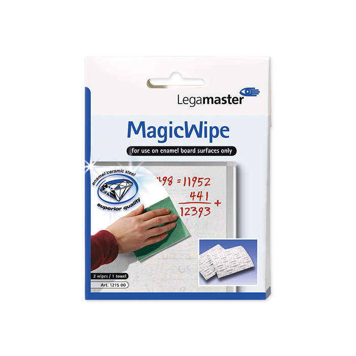 Legamaster Whiteboard Cleaning towels MagicWipe 2 MagicWipe + 1 Dry Wipe