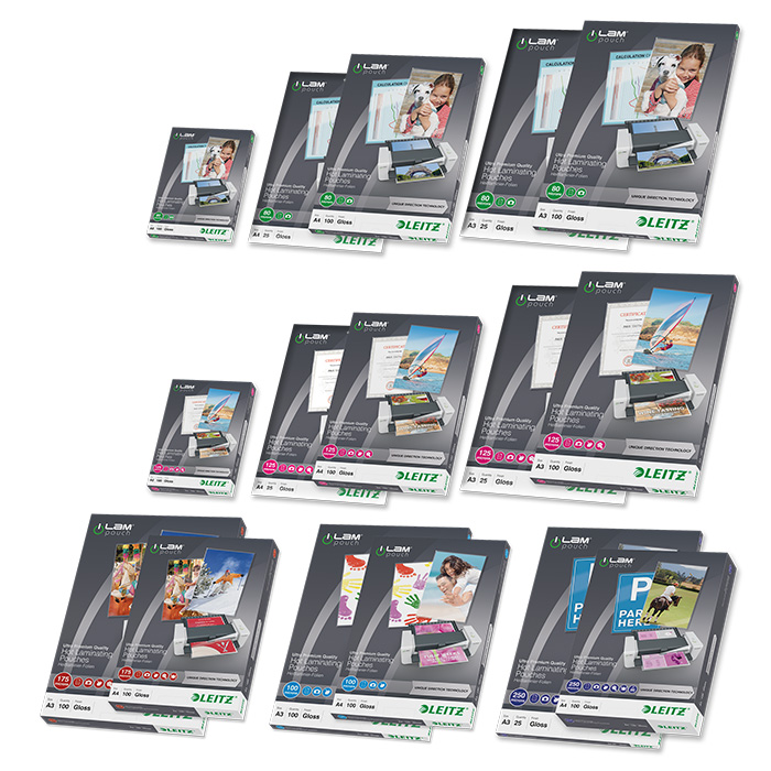 Leitz Laminating pouches iLAM 175 my, A3, 303 x 426 mm
