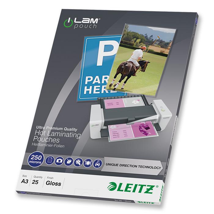 Leitz Laminier-Folientaschen iLAM 250 my, A3, 303 x 426 mm