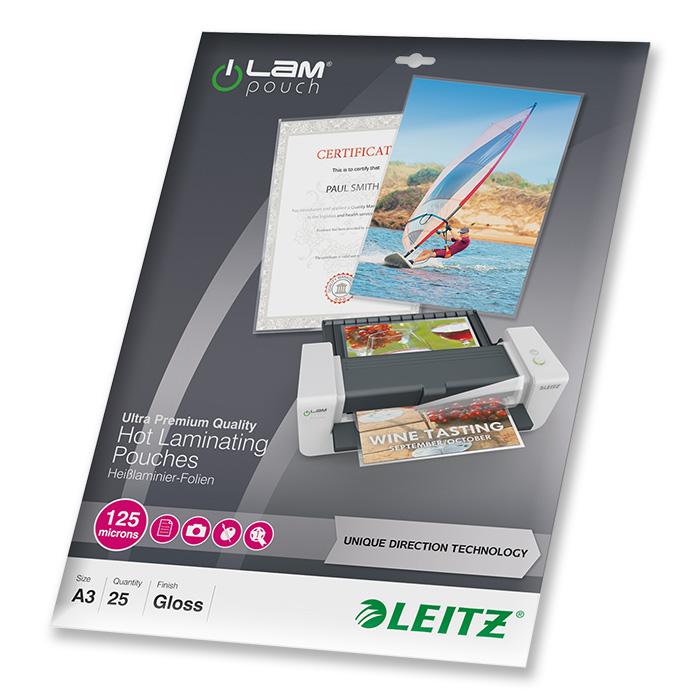 Leitz Laminier-Folientaschen iLAM 125 my, A3, 303 x 426 mm