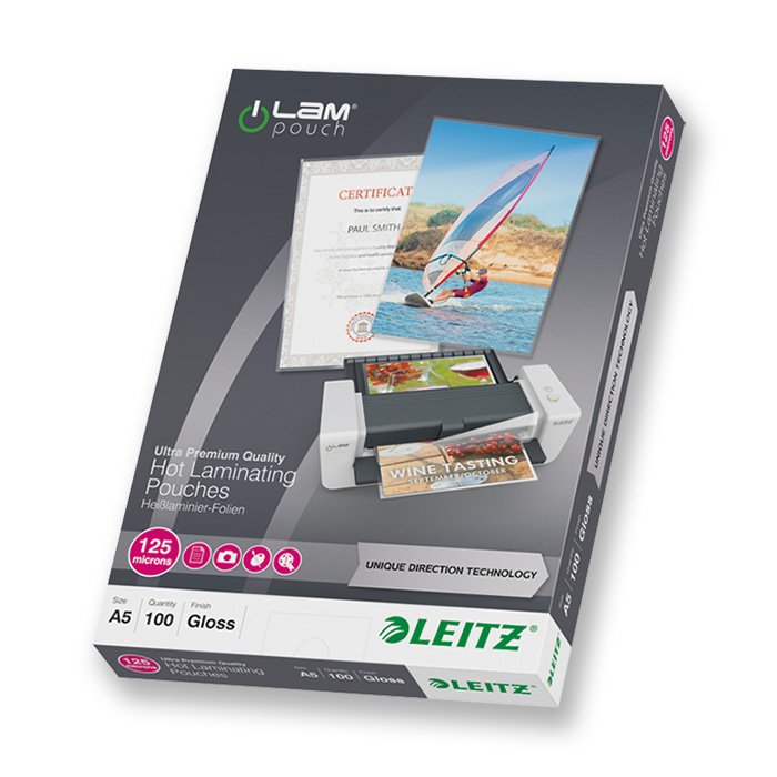 Leitz Laminier-Folientaschen iLAM 125 my, A5, 154 x 216 mm