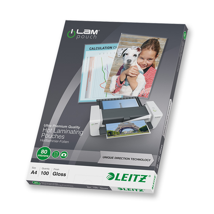 Leitz Laminier-Folientaschen iLAM 80 my, A4, 216 x 303 mm