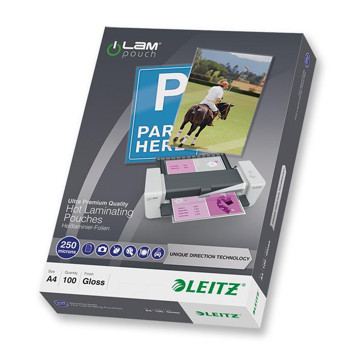 Leitz Laminier-Folientaschen iLAM 250 my, A4, 216 x 303 mm