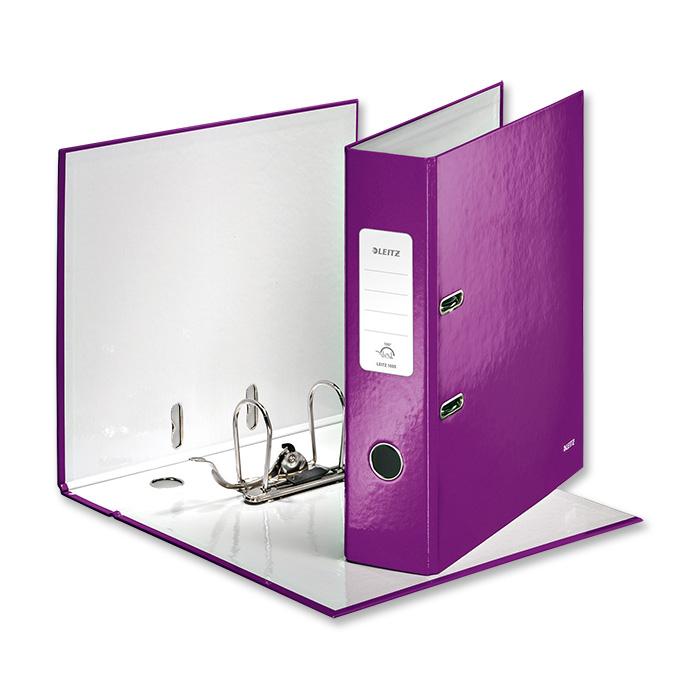 leitz ordner 180 wow 8 cm violett online bestellen schoch v gtli. Black Bedroom Furniture Sets. Home Design Ideas