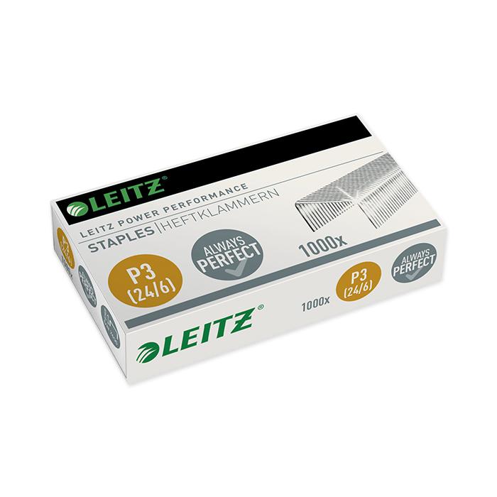 Leitz Power Performance Staples 24/6, leg length 6 mm