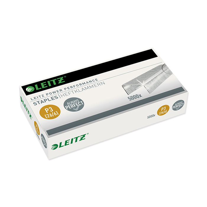 Leitz Power Performance Staples 26/6, leg length 6 mm