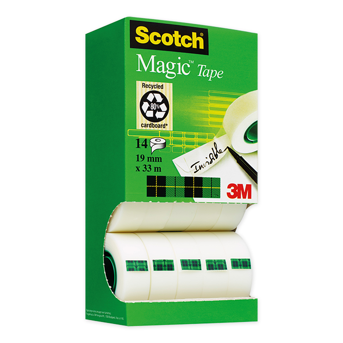 Scotch Magic Tape 810 Adhesive tape Dispenser box package with 14 rolls
