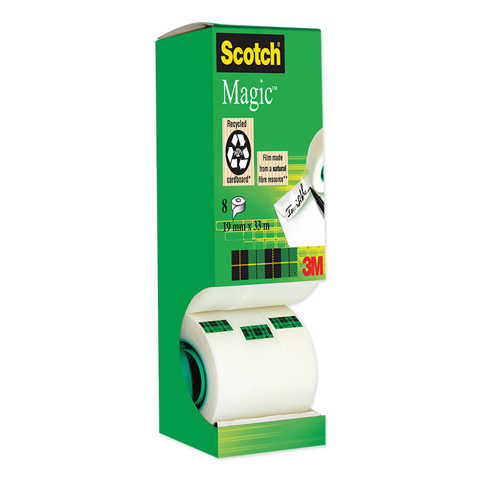 Scotch Magic Tape 810 Adhesive tape Dispenser box package with 8 rolls