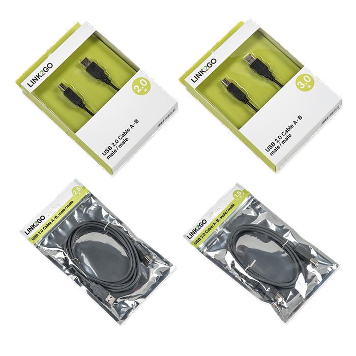 Link2Go USB-Kabel 2.0, A - B