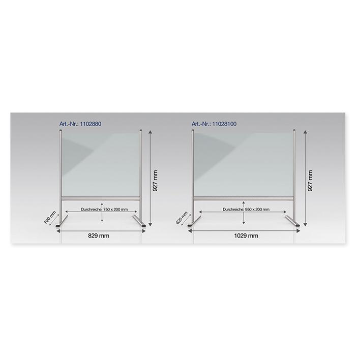 Magnetoplan Hygienewand Acrylglas