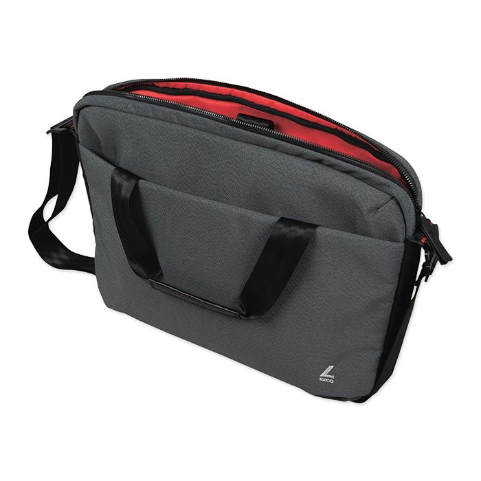 Elco Move Briefcase - 1 Zipper grey pattern