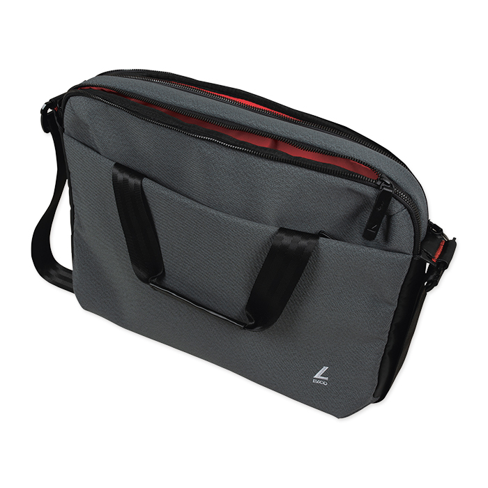Elco Move Briefcase - 2 Zipper grey pattern