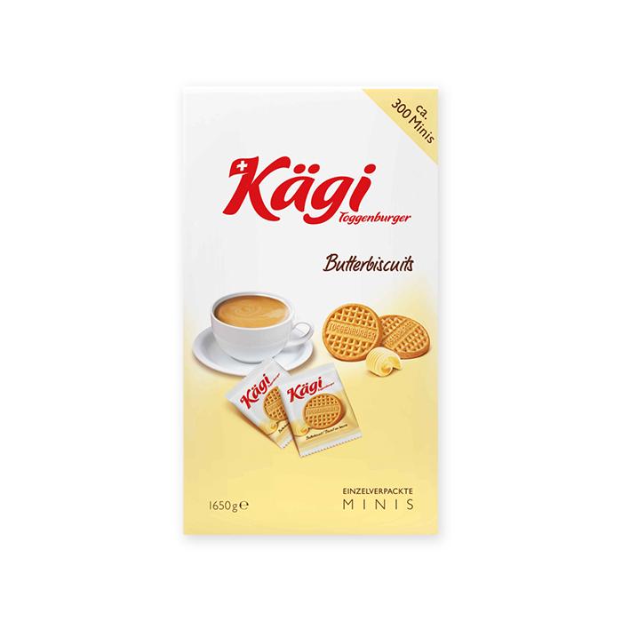 Mini biscotti al burro della Kägi, confezione da bar