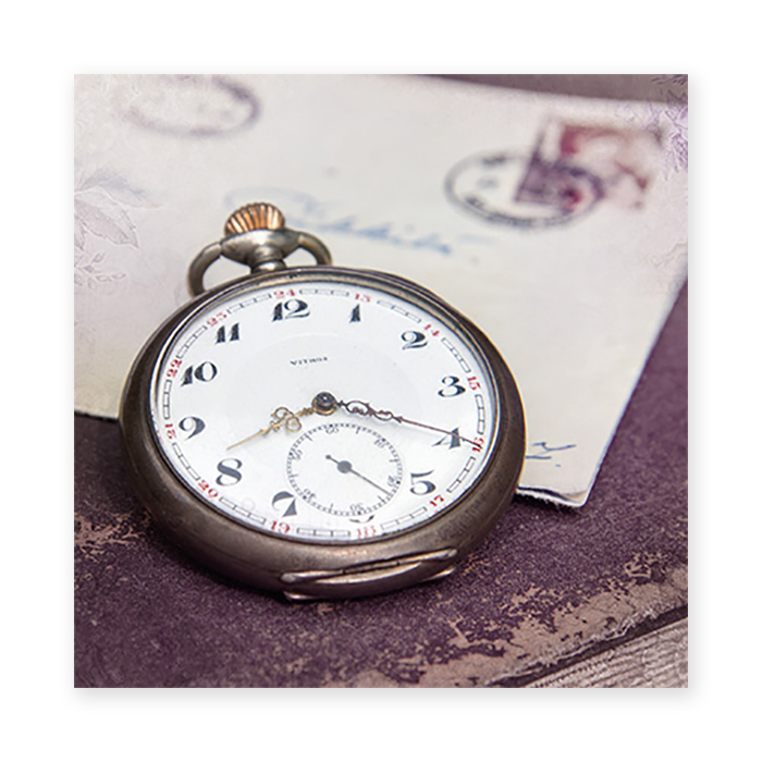 Natur Verlag Anniversary card - pocket watch