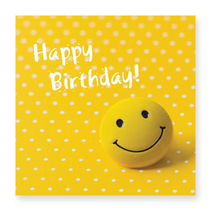 Natur Verlag Birthday Card - smiley