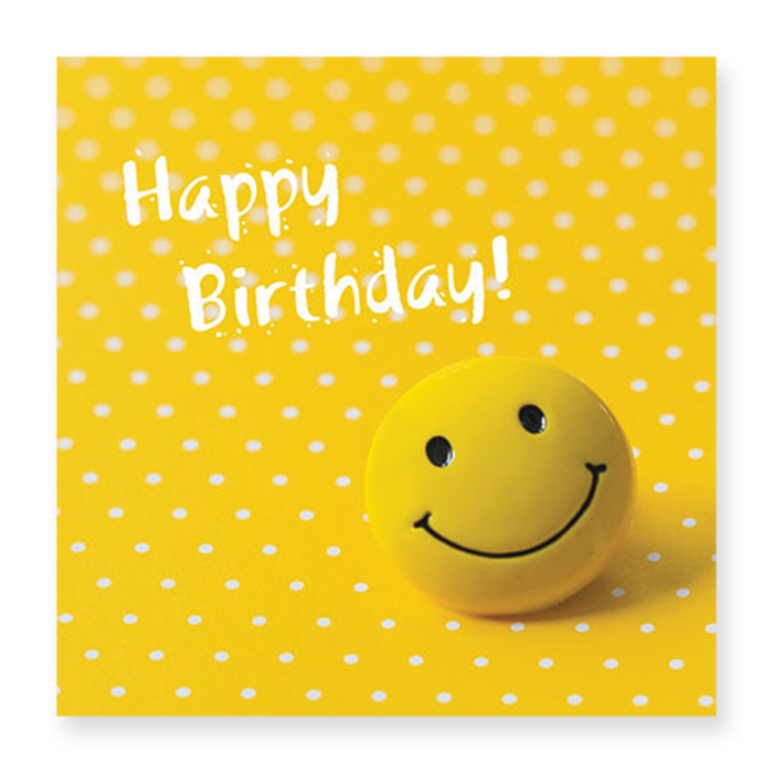 Natur Verlag Birthday Card - smiley
