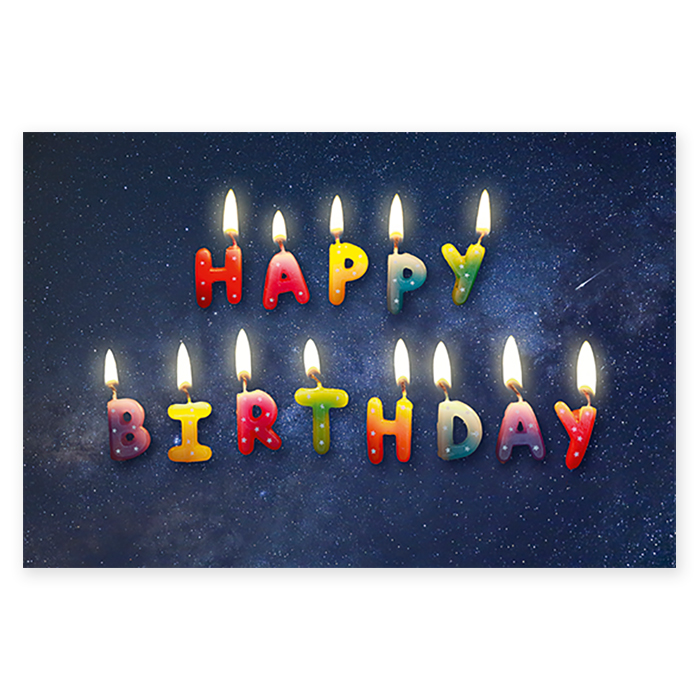 Natur Verlag Birthday Card Happy Candles