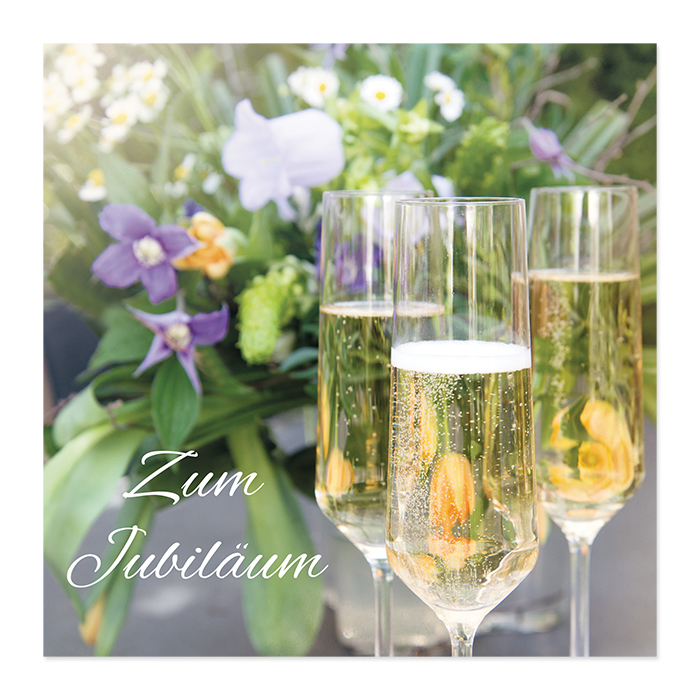 Natur Verlag Card of a jubilee - champagne glasses