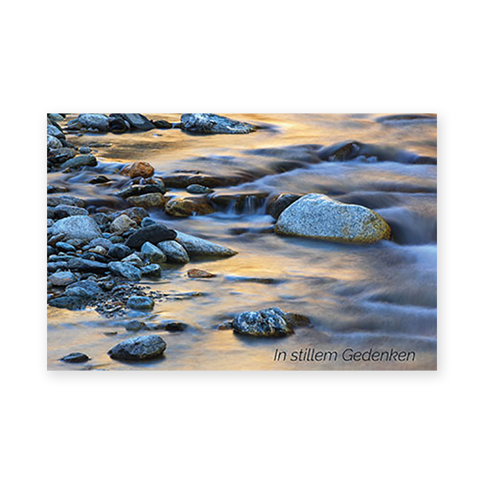 Natur Verlag Condolence card - Stones in the brook