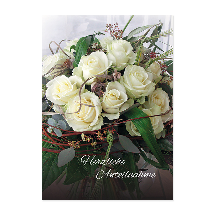 Natur Verlag Condolence cards - Bouquet of Flowers