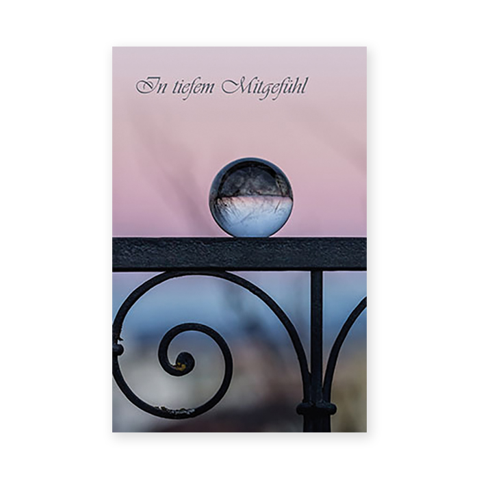Natur Verlag Condolence cards - Glass ball