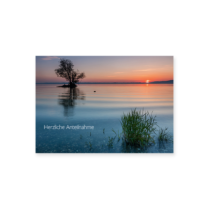 Natur Verlag Condolences card - Lake constance