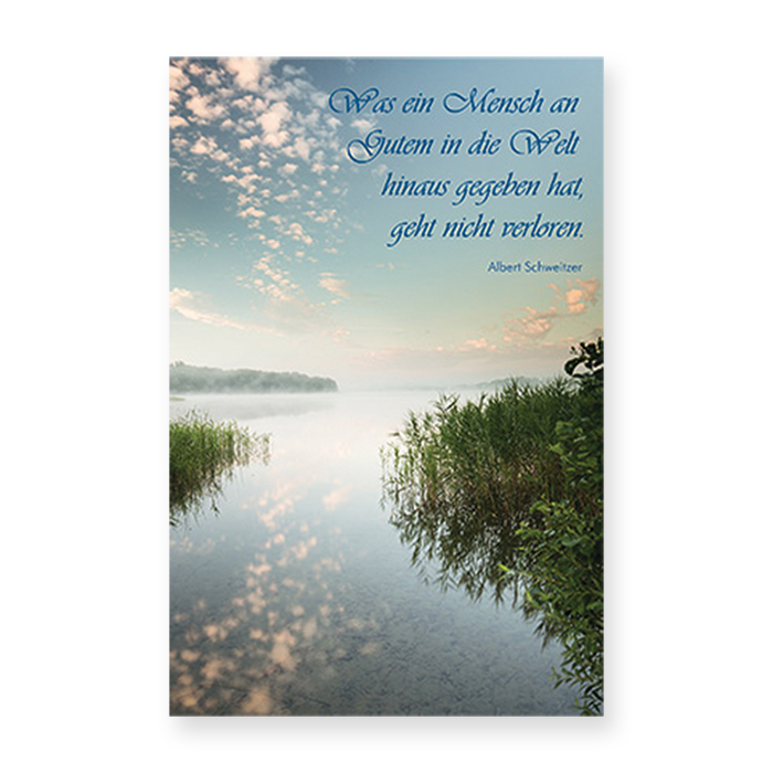 Natur Verlag Condolences card - View over water landscape