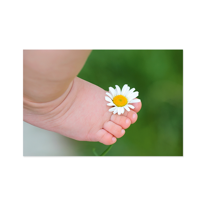Natur Verlag Greetings Card for birth – Baby Foot with Flower