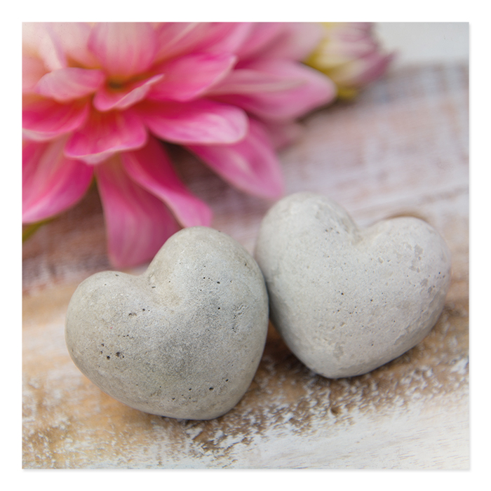 Natur Verlag Wedding Card – Heart Stones