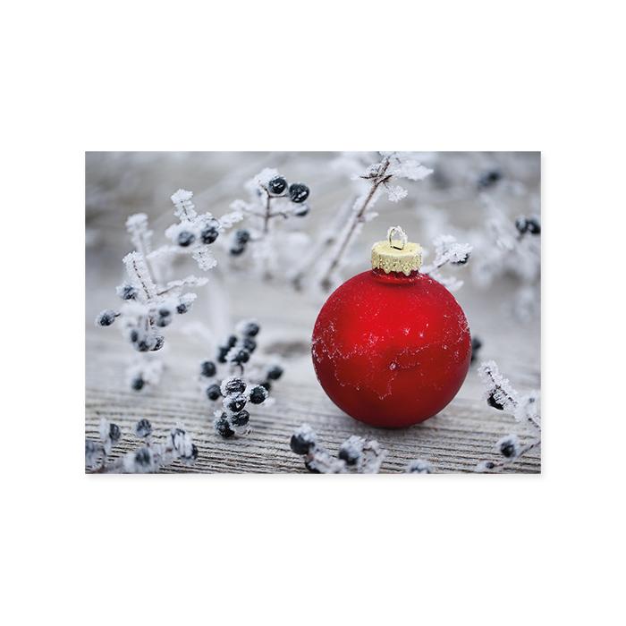 Natur Verlag Weihnachtskarte - Christbaumkugel