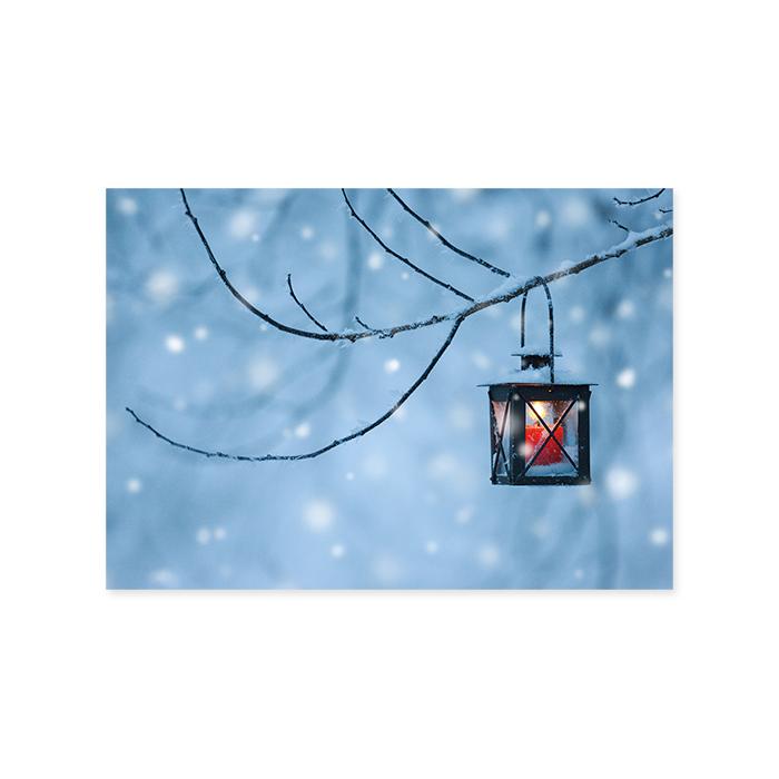 Natur Verlag Weihnachtskarte - Laterne