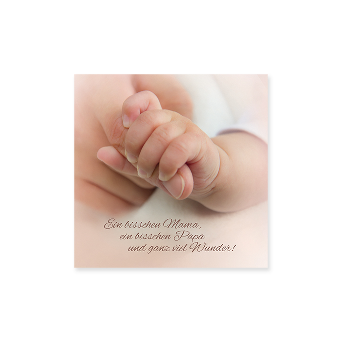 Natur Verlag birth card - hold on to your finger