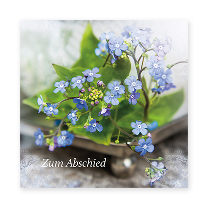 Natur Verlag farewell cards - forget-me-not