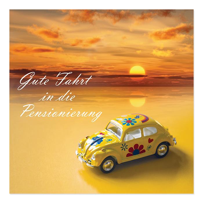 Natur Verlag retirement card - VW Beetle