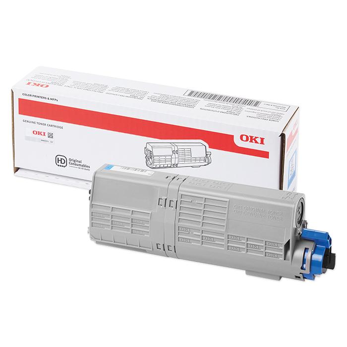 OKI Toner cartridge 46490401 - 608 cyan, 1500 pages