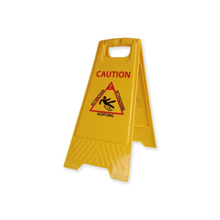Panneau d'avertissement « Attention risque de glissade »