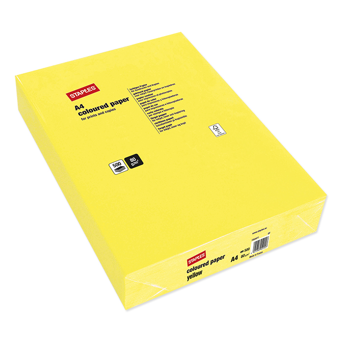 Staples Colored Copy FSC yellow
