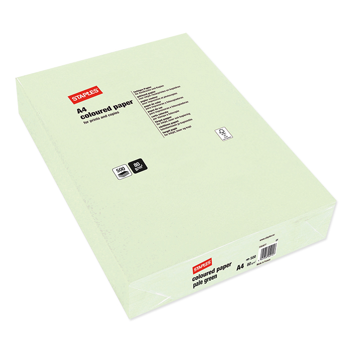 Staples Colored Copy FSC light green