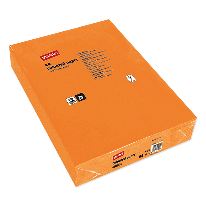 Staples Colored Copy FSC orange