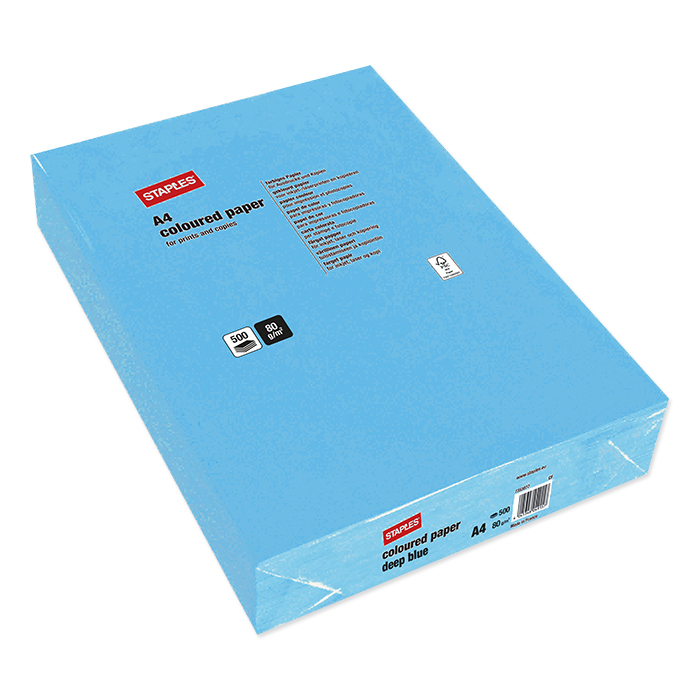 Staples Colored Copy FSC deep blue