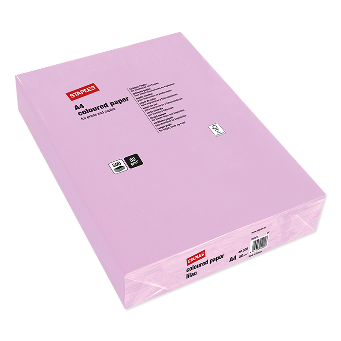Staples Colored Copy FSC lilac