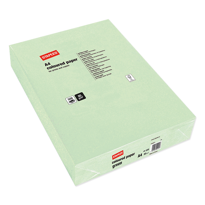 Staples Colored Copy FSC green