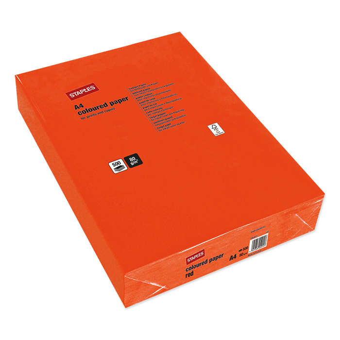 Staples Colored Copy FSC red