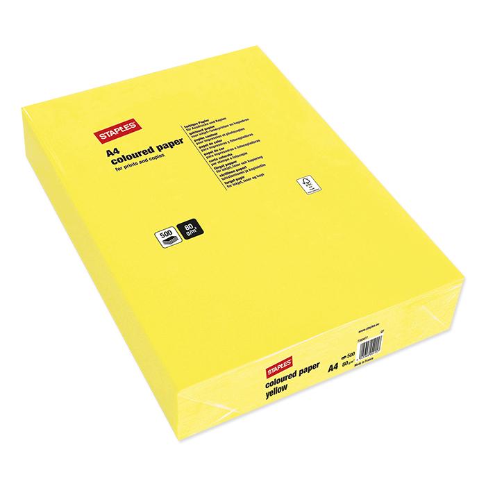Staples Colored Copy FSC yellow